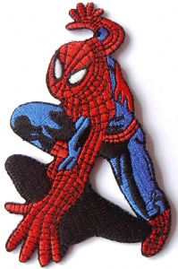 Spider-Man Crouching Comic Book Figure Patch Amazing